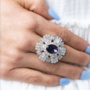 Paparazzi Iceberg Ahead Purple Ring, NWT